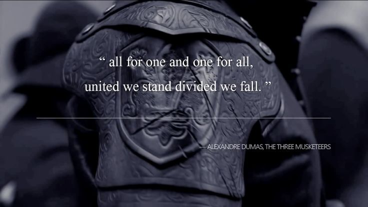 The Musketeers Motto