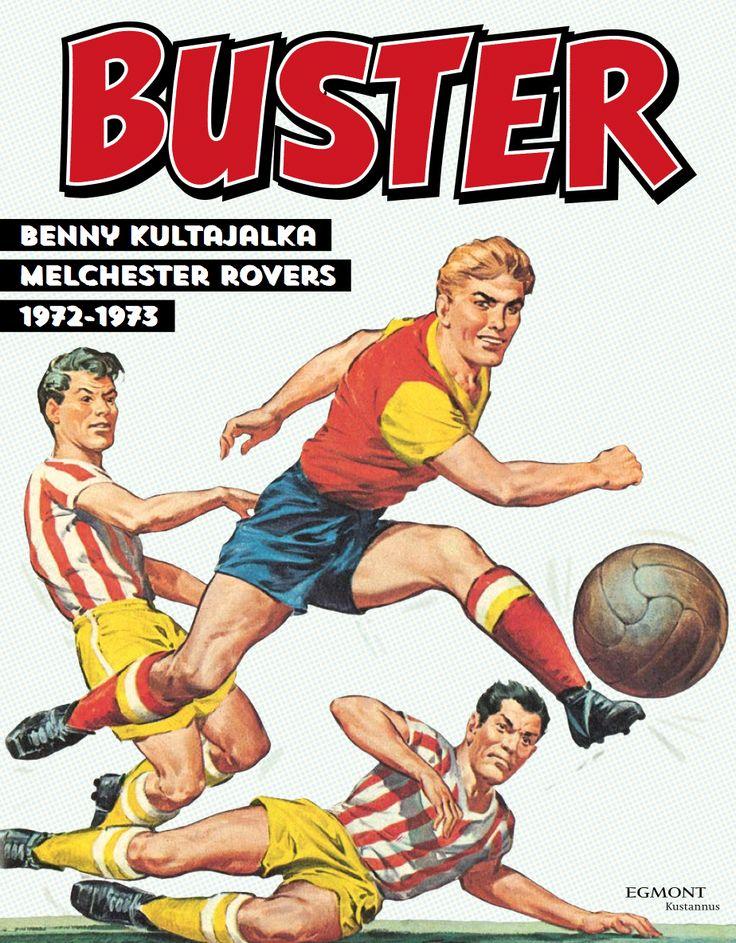 Buster palaa! Komea kattaus futissarjakuvaa kirjakaupoissa 26.10.1016! #Buster #sarjisparhaus #jalkapallo #futis