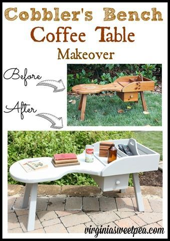Cobbler's Bench Coffee Table Makeover | Bench, Woodworking ...