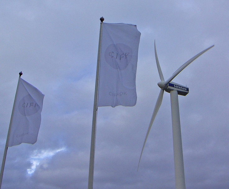 """Fashionable power: """"This year's Copenhagen Fashion Week has announced it will be powered solely by wind energy.""""  Photo and statement from CIFF 31 Jan - 3Feb 2013."""
