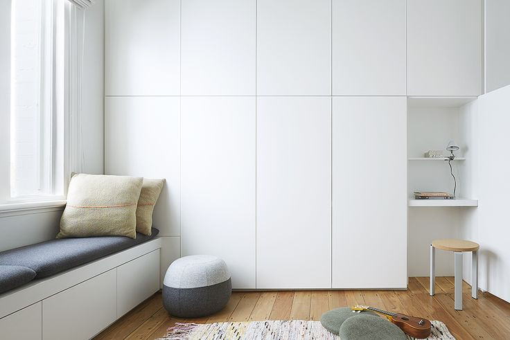 playing hide and seek? seamless storage is great and perfect for small spaces