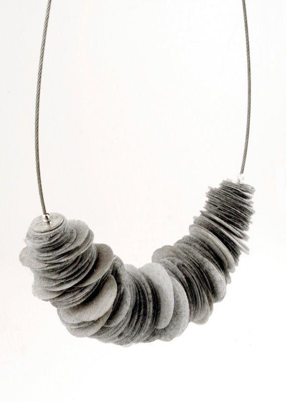 Grey Paper Necklace by alicekresse