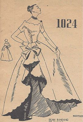 1950s Vintage Sewing Pattern B32 Ballgown Evening Dress (r798) By Modes Royale
