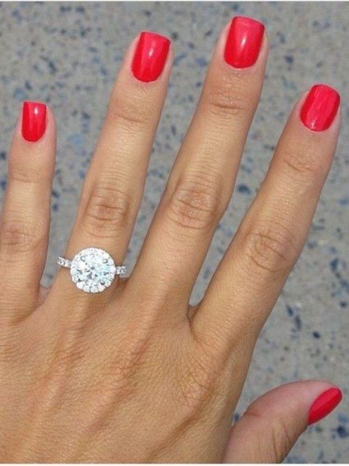 Round, halo diamond wedding ring_cr / http://www.deerpearlflowers.com/halo-engagement-rings-wedding-rings/