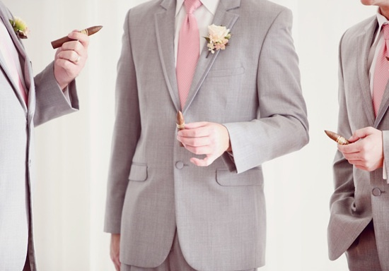 Awesome grey suits with pink ties | wedding | Pinterest | Awesome