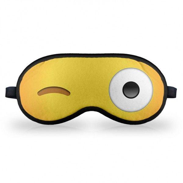 Máscara de Dormir Emoticon Emoji Piscadinha