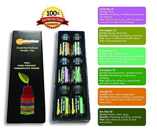 Aromatherapy Oils TOP 6-100% PURE ORGANIC THERAPEUTIC GRADE Essential Oils GIFT Set(Eucalyptus-Flu /Lavender-Cuts /Lemongrass-Fungus /Orange-Skin /Peppermint-HeadAche /TeaTree-Anticeptic)FREE EO Book! - http://essential-organic.com/aromatherapy-oils-top-6-100-pure-organic-therapeutic-grade-essential-oils-gift-seteucalyptus-flu-lavender-cuts-lemongrass-fungus-orange-skin-peppermint-headache-teatree-anticepticfree-eo-book/