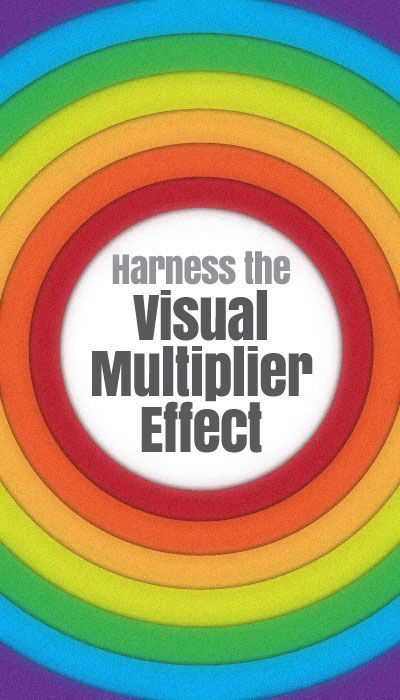"4 Ways You Get More Results, with Less Content using the ""Visual Multiplier Effect"" http://www.bigbrandsystem.com/visual-multiplier/"