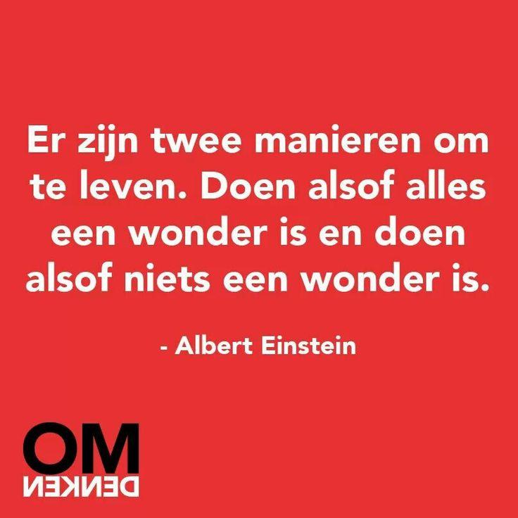 Doen alsof alles een wonder is, of niks een wonder is