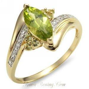 Cincin Peridot Cz Marquise Shape Ring 7 USA. Cincin Peridot Cz Marquise Shape Ring 7 USA ini untuk lebar jari berukuran 17mm sampai 18mm, untuk wanita dengan tinggi badan 165cm sampai 175cm.