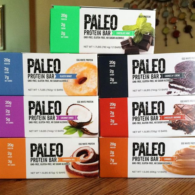 Paleo Protein Bar® 20g Protein (Egg Whites), Low Carb, Gluten Free, No Added Sugar (2g), GMO-Free, Grain Free, Dairy Free, Soy Free, No Sugar Alcohols, Whey Free, Legume Free, & Monk Fruit Sweetened. (Under 200 Calories) (Curbs Appetite Up to 4 hrs- No Bloating) (100% Paleo) (From 2 Net Carbs) (Soft, Chewy & Delicious) (7 Amazing Flavors) (Sold Online Only As They Are New) (FREE Shipping) www.PaleoBar.com