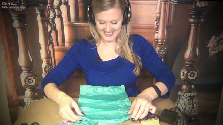 Mic Test and Unboxing packages. ASMR. Cards, Tissue Paper, ASMR Book, So...