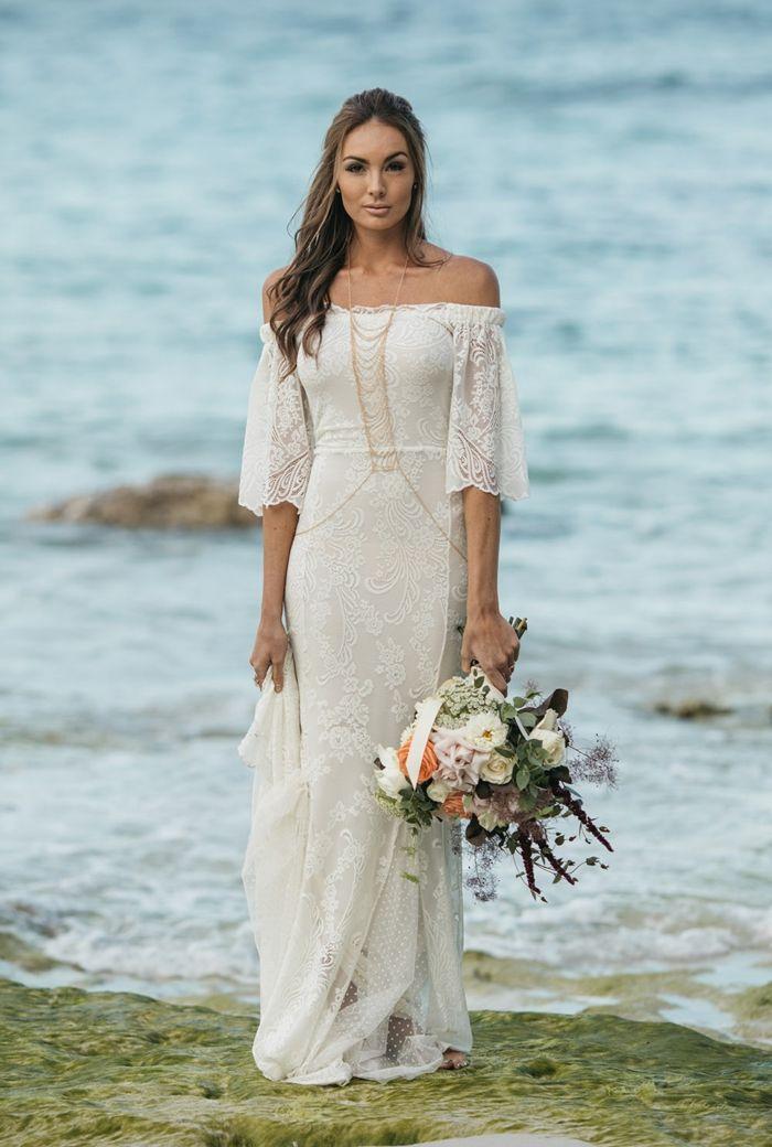 Boho Wedding Dress 100 Models To Jump On Festivals Romantic