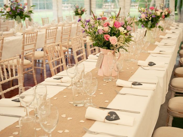 Vintage wedding marquee hire for 80 guests