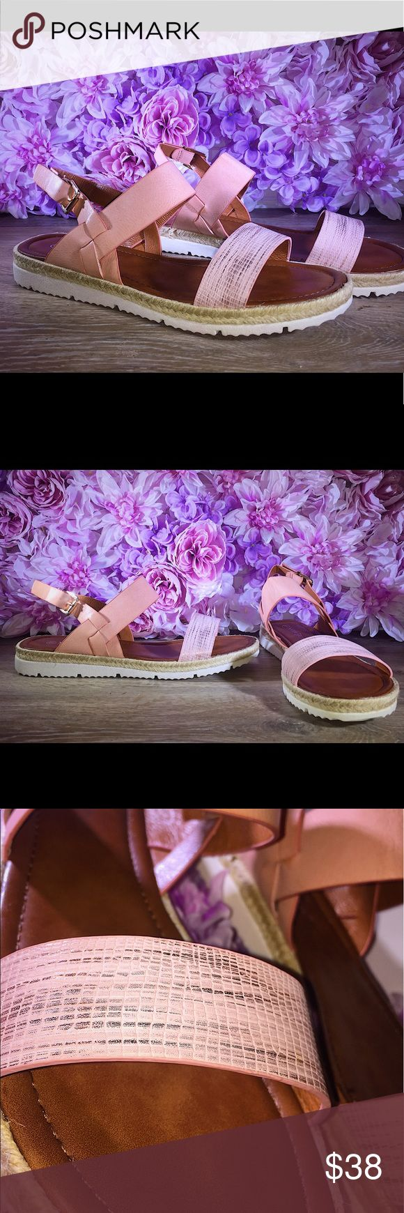 💕Pink trendy sandals Chic comfortable sandals ! Pair with your favorite casual day look😍 Shoes Sandals