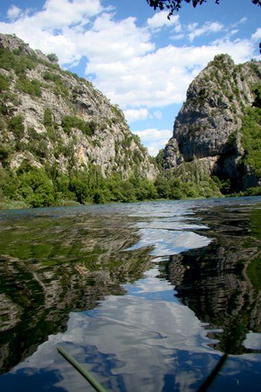 Cetina river, Omis, Croatia