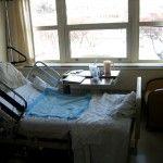 Een ziekenhuiskamer. Dit is de kamer waar Andreas in sterft door kanker aan het einde van het boek.