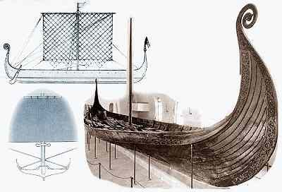 The Viking ship was perhaps the greatest technical and artistic achievement of the European dark ages. These fast ships had the strength to survive ocean crossings while having a draft of as little as 50cm (20 inches), allowing navigation in very shallow water. http://www.hurstwic.org/history/articles/manufacturing/text/norse_ships.htm