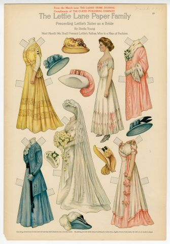 75.2750: The Lettie Lane Paper Family: Presenting Lettie's Sister as a Bride | paper doll | Paper Dolls | Dolls | Online Collections | The Strong