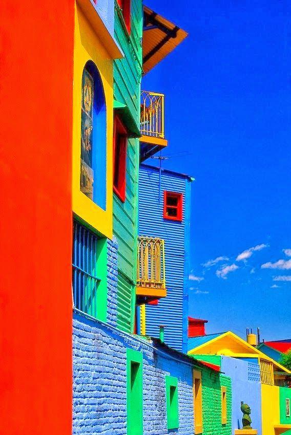 Colours of Caminito in La Boca, Buenos Aires, Argentina.