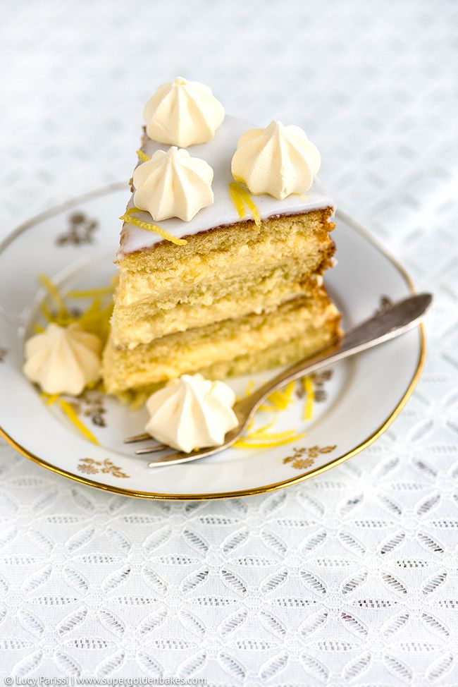 Gin, Passionfruit and Lemon Layer Cake | Supergolden Bakes