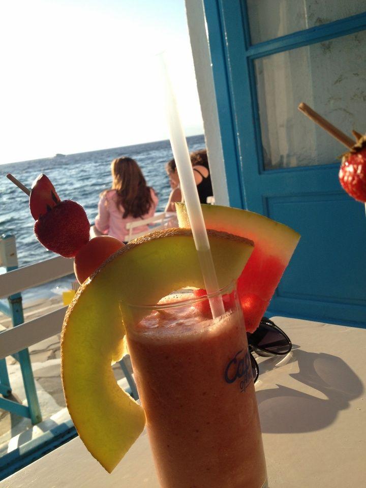 Sundown at Little Venice   Mykonos, Lesvos, Μύκονος, Mökene, Mytillini, Athens, Tyre, Santorini, Oia, Fira, Greece, Grek, Summer, Holiday via Tanerozcelik.com