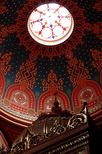 CHURCH Dome in the Great Synagogue of Budapest, Hungary