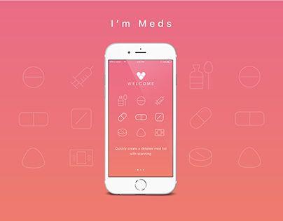 """Check out new work on my @Behance portfolio: """"I'm Meds app design"""" http://be.net/gallery/41617817/Im-Meds-app-design"""