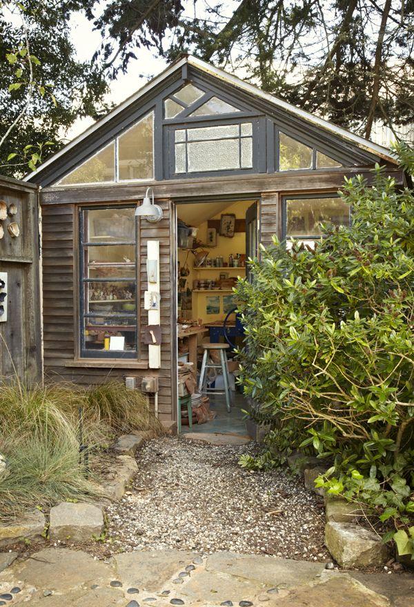 Lisa Neimeth's home ceramics studio: It's a converted chicken coop in her backyard