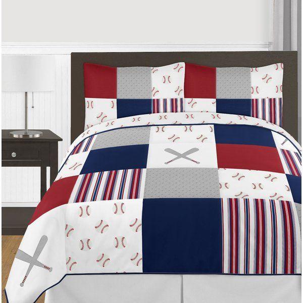 Baseball Patch Comforter Set Comforter Sets Twin Bed Sets Queen Bedding Sets