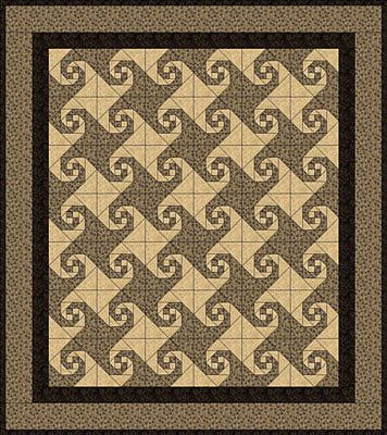 Snail's Trail Quilt Pattern this could be a good pattern to make into my embroidery quilt.