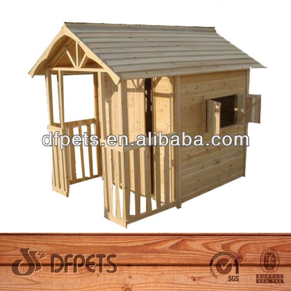 Kid Toy Wooden Playhouse ,Backyard Wooden Playhouse,Kids Outdoors Playhouse DFP002