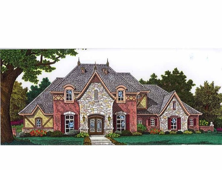 31 best images about front elevations on pinterest for French country european house plans
