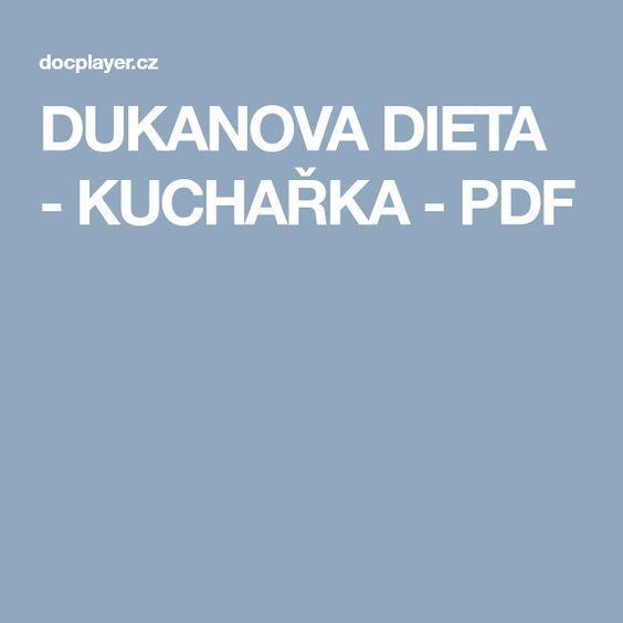 DUKANOVA DIETA - KUCHAŘKA - PDF