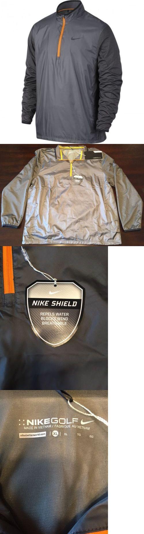Coats and Jackets 181134: Nike Golf Men S 1 2 Zip Shield Top (Dark Grey Orange Black) Closeout Msrp:$85 -> BUY IT NOW ONLY: $34.99 on eBay!