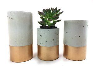 Concrete Succulent Planters / Air Plant Holders. Urba planters (set of 3) Gold. FREE SHIPPING! Ready To Ship!