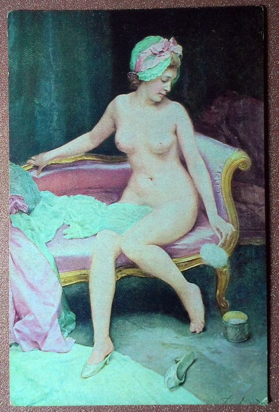 Antique Nu french postcard 1900s Nude femme by JustSweetHoney