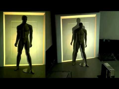 #Video mapping on a mannequin. @Carolyn Rafaelian Ingram Productions Ltd. #3D