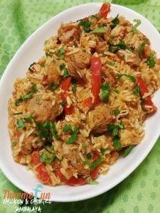 Thermomix Chicken Chorizo Jambalayla