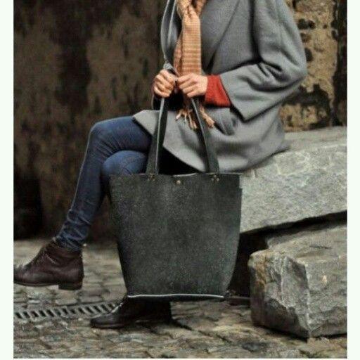 Tote bag handmade leather