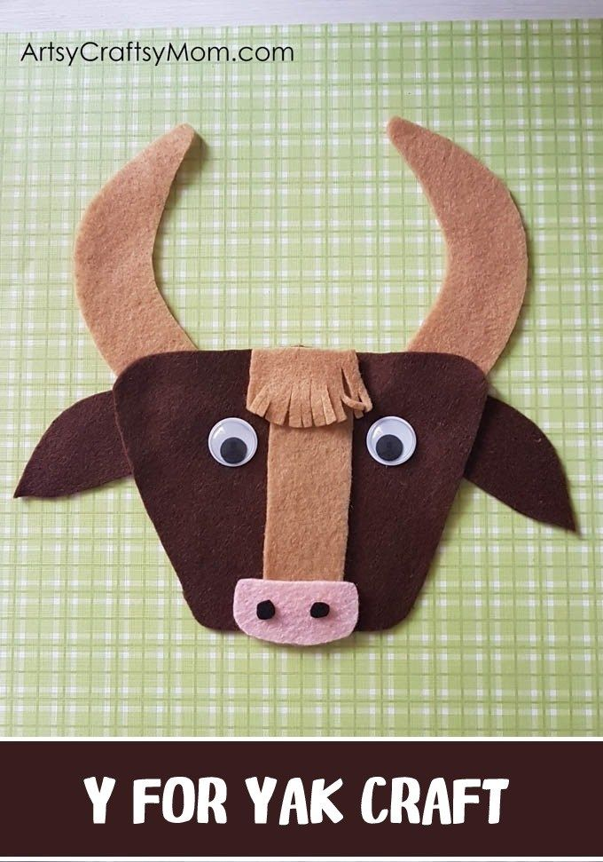 Y For Yak Craft With Printable Template Animal Crafts For Kids