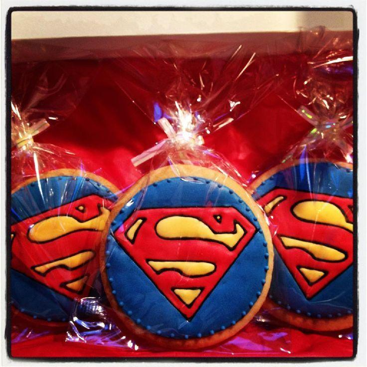 superman cookies | Superman cookies | Superman party | Pinterest