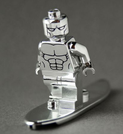 Chrome Surfer CustomBricks Custom Minifigure - Minifigures.co.uk.........now that is pretty sweet...and shiny....so shiny!!