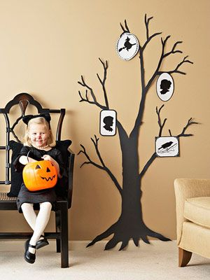 Home, Spooky Home: Spooky Silhouette (via Parents.com): Halloween Decor, Family Trees, Tree Silhouette, Trees Silhouette, Halloween Trees, Decoration, Families Trees, Spooky Families, Halloween Ideas
