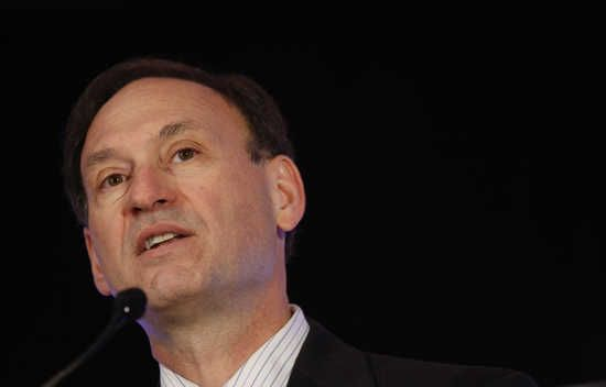 U.S. Supreme Court Justice Samuel Alito...just another paid-for shill for right-wing bullshit.