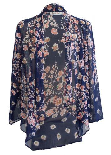 Floral Kimono Jacket- Nina Proudman Style