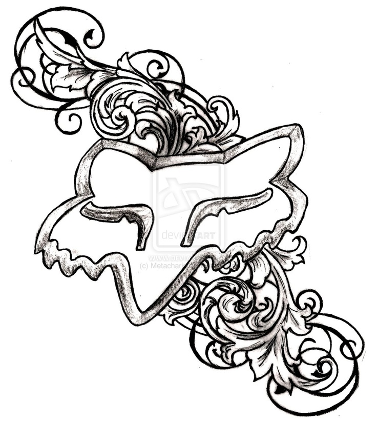 Fox Racing Logo with Flourishes and Swirls Tattoo by ~Metacharis on deviantART