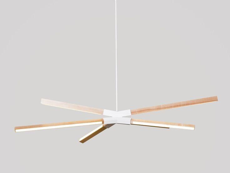 LED Pendelleuchte aus Holz LITTLE SKY BANG by Stickbulb