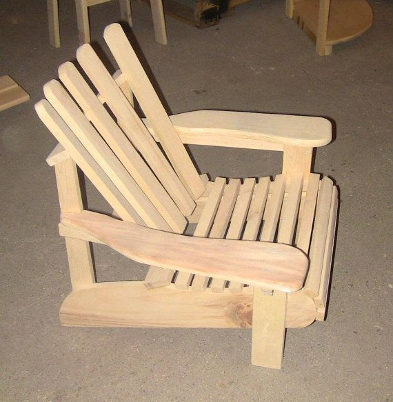 Children's Wood Adirondack Chair by CanadianWoodenCrafts on Etsy