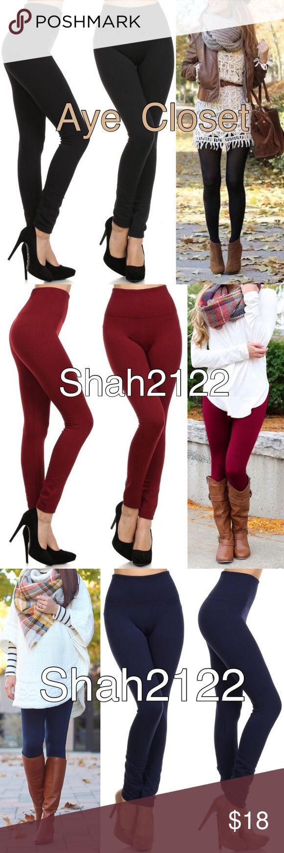 """BLACK fleece lined leggings New OS ONE SIZE FLEECE LINNED leggings. Stretch to fit (Plenty of stretch). Thick not opaque. 2.5-3"""" wide High waisted band.perfect solid, basic essential leggings.  Polyester, spandex blend. ‼️Also available in Black, burgundy, charcoal gray, navy blue, and sand in my closet TAG  SAYS OS(one size fits most), best fits S-L(2-14) ‼️Sizes options added  for search purposes‼️ Boutique Pants Leggings"""